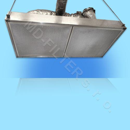 Průmyslová digestoř - osazení kovové filtry